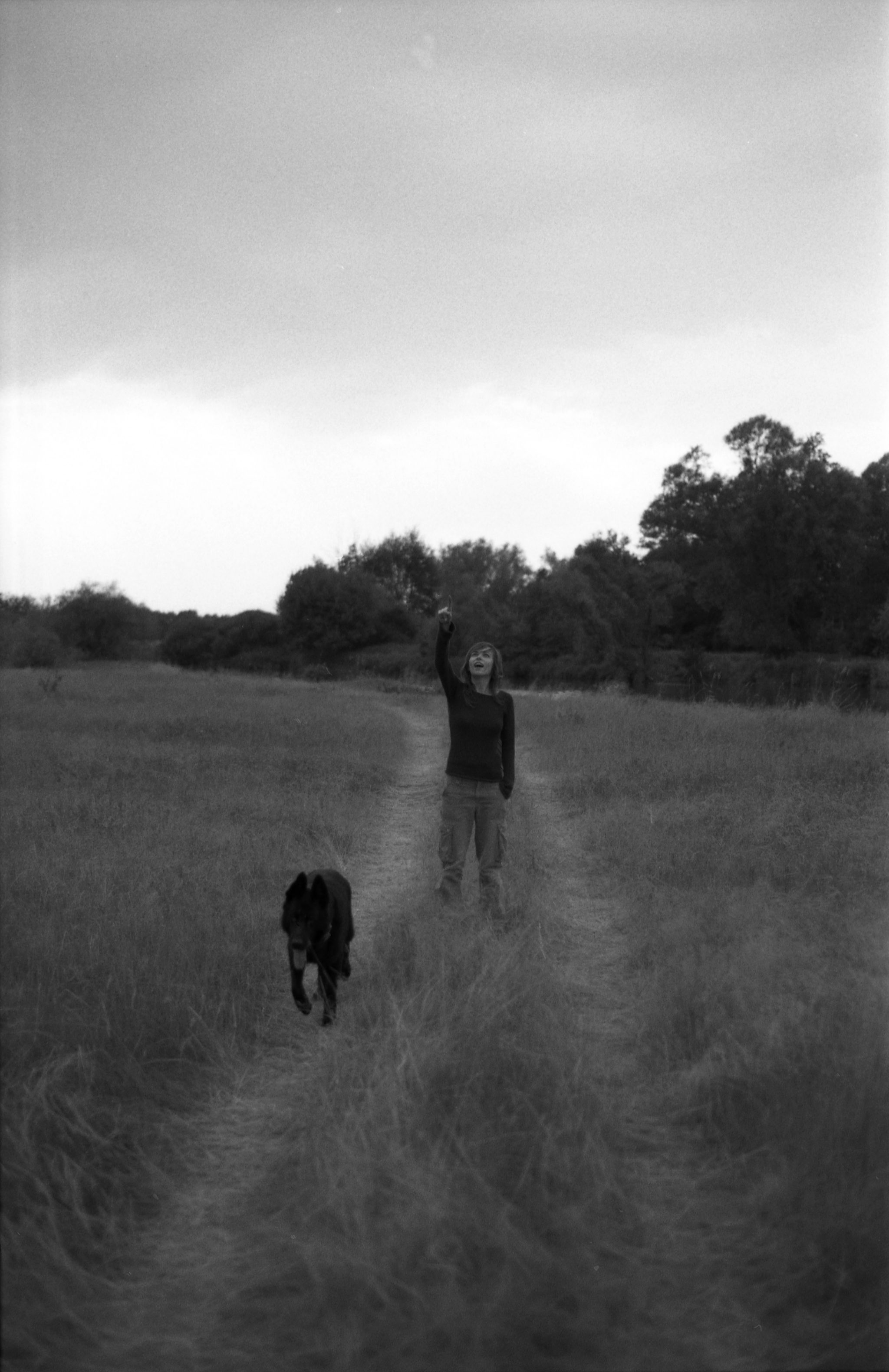 Ania and Robinek, around Warka, Poland, 2006