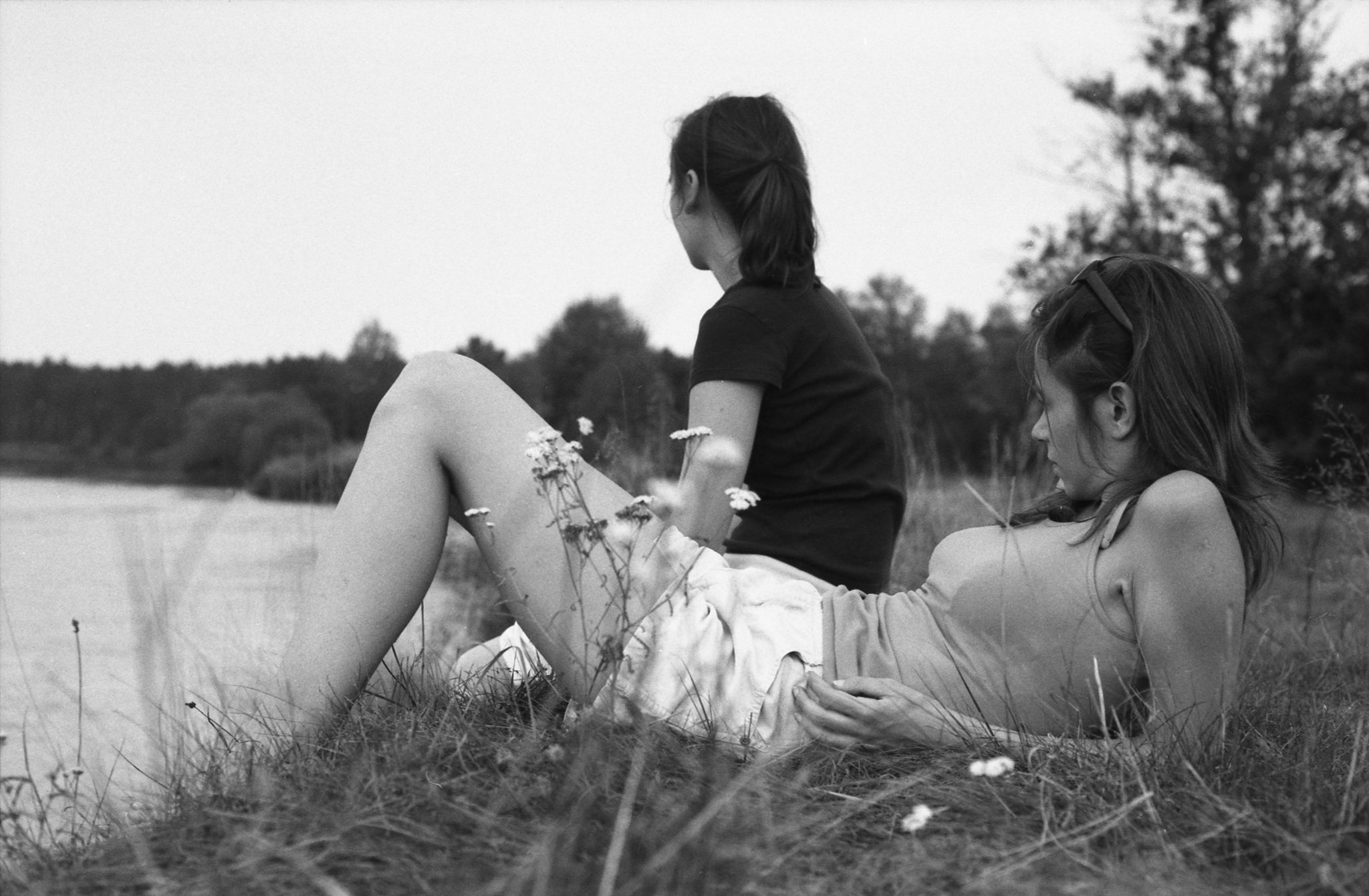 Ania and Kasia, Around Warka, Poland, 2009